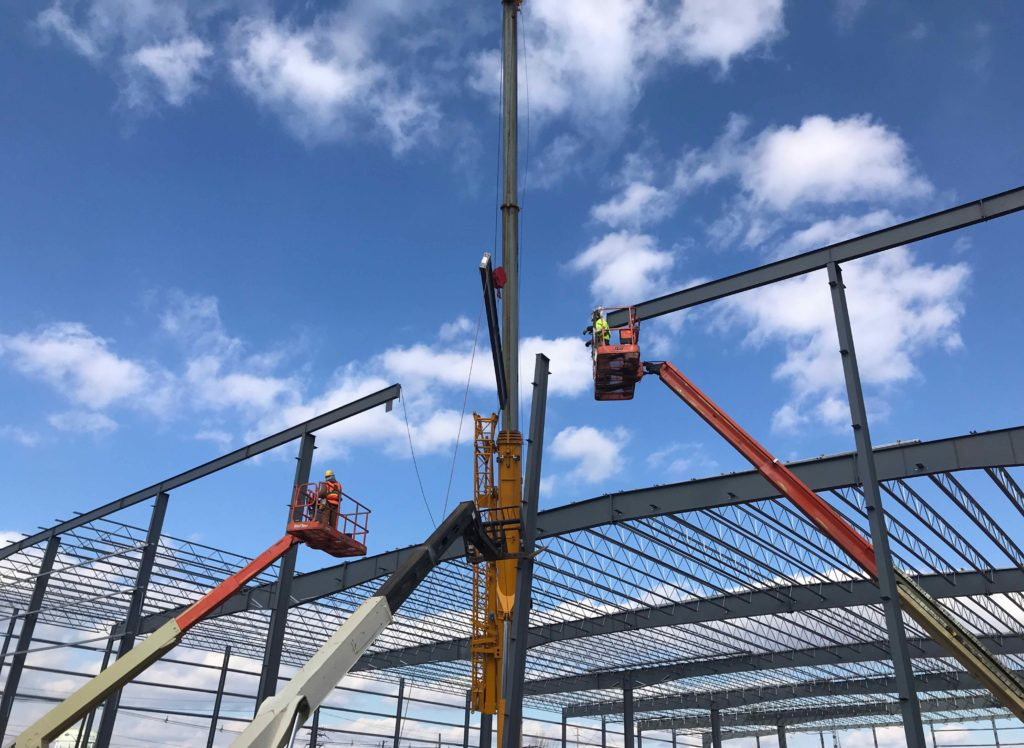 Crane warehouse construction